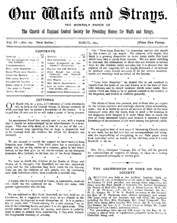 Our Waifs and Strays March 1893 - page 32