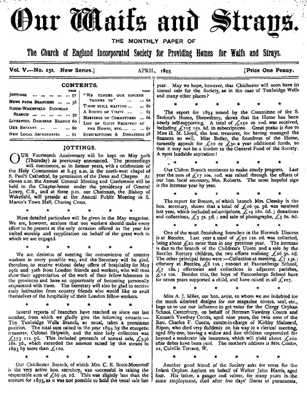 Our Waifs and Strays April 1895 - page 57