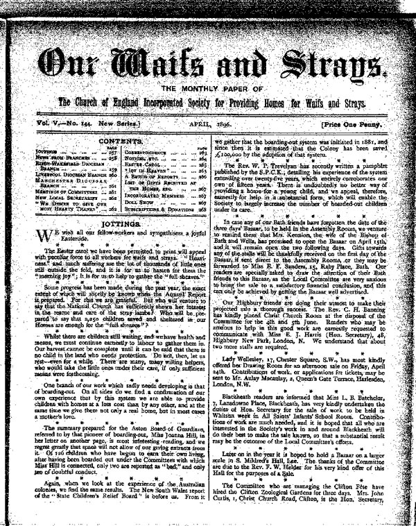 Our Waifs and Strays April 1896 - page 57