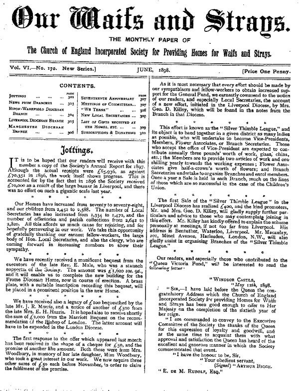 Our Waifs and Strays June 1898 - page 93