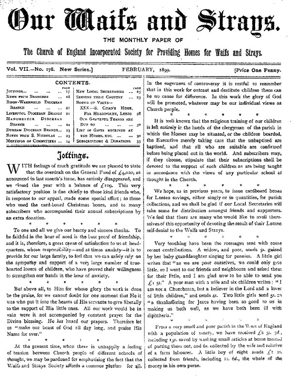 Our Waifs and Strays February 1899 - page 21