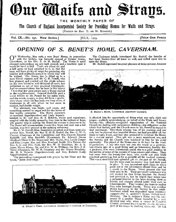 Our Waifs and Strays July 1903 - page 129