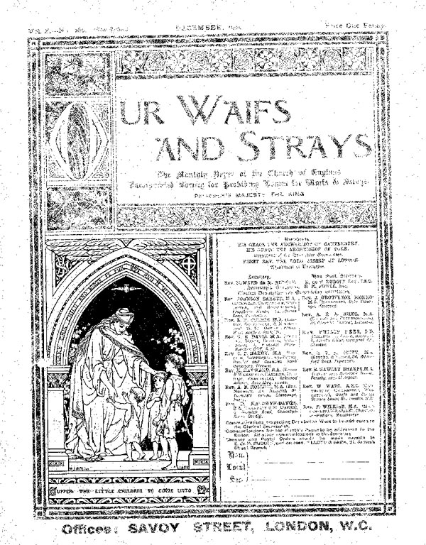 Our Waifs and Strays December 1905 - page 179