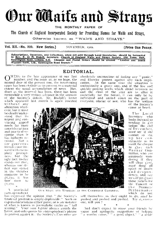 Our Waifs and Strays November 1910 - page 213