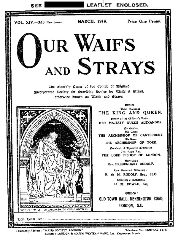 Our Waifs and Strays March 1913 - page 58