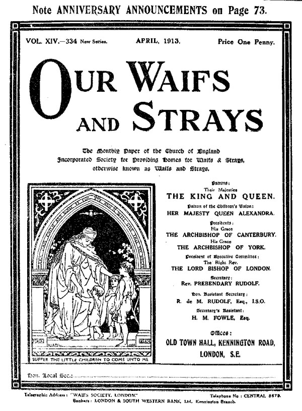 Our Waifs and Strays April 1913 - page 86