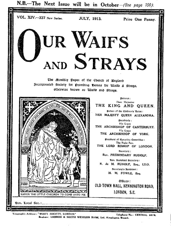 Our Waifs and Strays July 1913 - page 172
