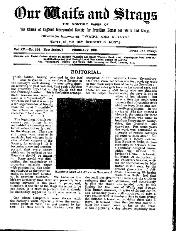 Our Waifs and Strays February 1916 - page 27