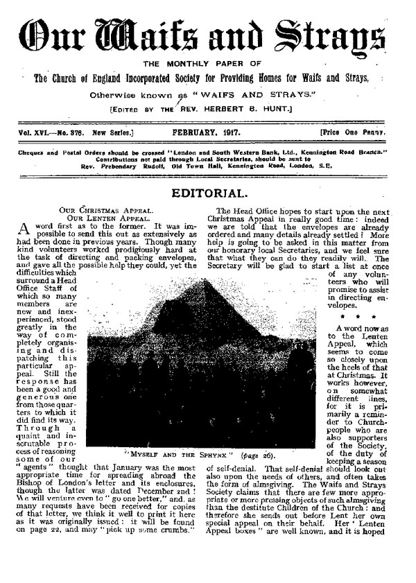 Our Waifs and Strays February 1917 - page 19