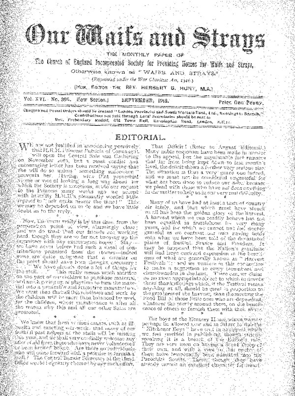 Our Waifs and Strays September 1918 - page 104