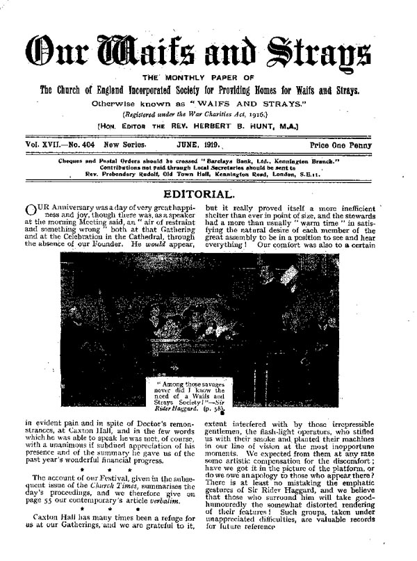 Our Waifs and Strays June 1919 - page 59
