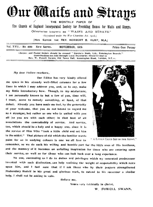 Our Waifs and Strays November 1919 - page 129