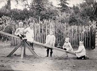 The garden of St Nicholas' Home must have been very busy at playtime, as there were more than 100 living there.