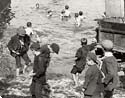 Swimming at Deptford docks