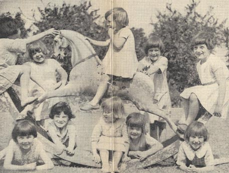 As well as 'Matey', their rocking horse, St Margaret's Home had many other toys for the girls to play with. They even had a play hut in their garden with a stage and a 'dressing-up box', so the girls could act out their favourite fairy tales.