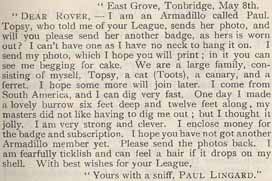 Letter from Paul Lingard
