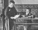 Two little boys in the schoolroom