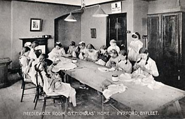 Sewing room 1900