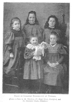 These girls were all boarded-out with foster parents in Windsor. Finding foster homes for children was always a key area of the Waifs and Strays' Society's work.