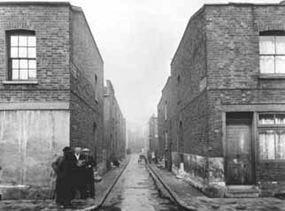 The East End was the poorest area of London, and many of its buildings were categorised as 'dangerous to the public health.'