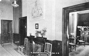 The reception room had an important social function, as it gave visitors their first view inside the home. It was important for children's homes to make a good impression with local people, and to make them feel welcome.