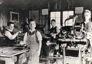 The boys of Sunnyside Home For Boys were trained to use a printing press. They undertook commercial work, and even printed some of the Society's own documents.