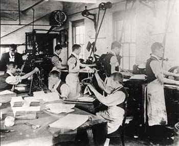Skills learnt in Sunnyside Home's workshop allowed many of the boys to follow careers in the printing trade. Many of the old boys remained employed at the Home's printing workshop even after they had moved away.